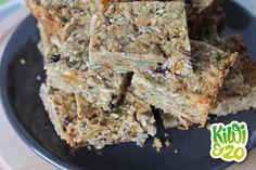 Gezonde mueslireep zonder suiker, ei, zuivel of noten