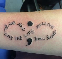 Semicolon Tattoos - What do they mean? I am glad that a semicolon tattoo movement started because it gave new hope and meaning to people who were battling depression. A Semicolon tattoo has a special Circle Tattoos, Infinity Tattoos, Body Art Tattoos, Tatoos, Unique Semicolon Tattoos, Unique Tattoos, Small Tattoos, Wrist Tattoos For Women, Tattoo Designs For Women