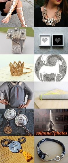 Silver Black and Gold by Anna on Etsy--Pinned with TreasuryPin.com