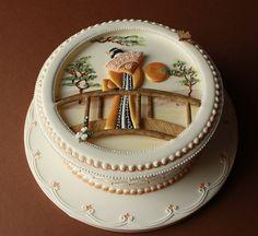 Donatella Gorgeous Cakes, Pretty Cakes, Amazing Cakes, Chinese Cake, Japanese Cake, Royal Icing Cakes, Asian Cake, Ice Cake, Cake Wrecks