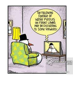 Created by Bill Whitehead Snowman Jokes, Snowman Cartoon, Funny Snowman, Cartoon Jokes, Funny Cartoons, Funny Comics, Funny Memes, Hilarious, Funny Christmas Cartoons
