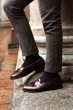 Tailor made pants Church's tassel loafers