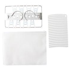 MUJI Travel Portable laundry set Washboard mini size Drying Tool Hanger Japan #MUJIRUSHI