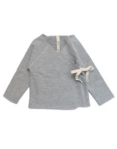 Gray Label Organic Crossover Top In Grey