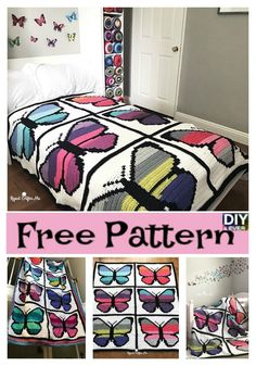 Crochet Butterfly Blanket – Free Pattern #crochet #butterfly #freepattern