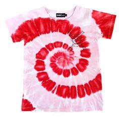 Bandit Kids Red/Powder Pink Tie-Dye Bandits Only Tee - A Little Bit of Cheek