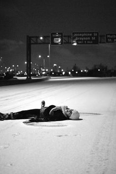 Who doesn't love doing snow angels in the middle of the road when they are shut down??