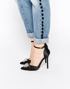 Image 1 of ASOS PITCH BLACK Pointed High Heels