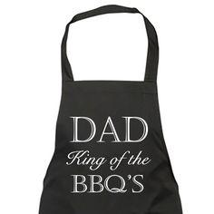 BBQ King Adultes Tablier complet ou style bistrot Personnalisé Avec Nom Cadeau pour Lui