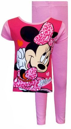 AME Sleepwear Disney Minnie Mouse Leopard Love Toddler Pajamas for Little  Girls Leopard Dress 079a7d9e3