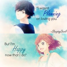 Ao Haru Ride // I dont own this edit ! Creds to the owner :) Anime Qoutes, Manga Quotes, Book Quotes, Real Anime, Anime Love, Blue Springs Ride, Riding Quotes, Manga Books, Anime People