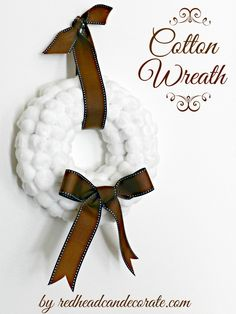 How to make a cotton wreath.