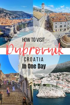 Dubrovnik in Croatia Croatia Travel Guide, Europe Travel Tips, Italy Travel, Places To Travel, Travel Destinations, Holiday Destinations, Croatia Itinerary, Traveling Tips, Dubrovnik Croatia