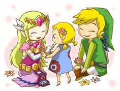 The Legend of Zelda: The Wind Waker | Toon Link, Toon Princess Zelda, and Aryll / 「おそろい」/「ハル」のイラスト [pixiv]