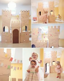 fun cardboard castle: Kinda did it my own way but this was definitely a HUGE hit! No need for tons of games, this was enough and it lasted, I was surprised :)