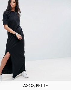 ASOS PETITE Basic T-shirt Casual Maxi Dress - Black