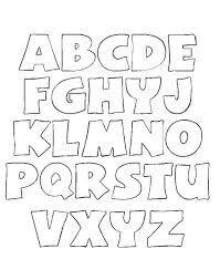 Alfabeto molde para imprimir