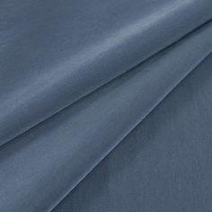 Steel Blue Peachskin Fabric