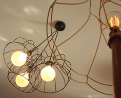 exposed bulbs would work with high ceilings...