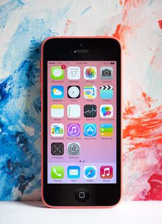 iPhone 5c! I want this pink one for my birthday gift, please.