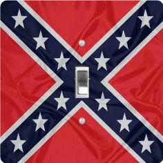 "Rikki KnightTM Confederate Flag - Single Toggle Light Switch Cover by Rikki Knight. $13.99. The Confederate Flag single toggle light switch cover is made of commercial vibrant quality masonite Hardboard that is cut into 5"" Square with 1'8"" thick material. The Beautiful Art Photo Reproduction is printed directly into the switch plate and not decoupaged which make these Light Switch Plates suitable for use in any room in the office, home, etc. etc.. These Light Switch Plates ca..."