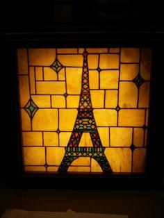 Stainedglass box lamp