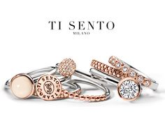 Wondering how you can wear all your beautiful Ti Sento #rings? Just stack them up and wear them all together!