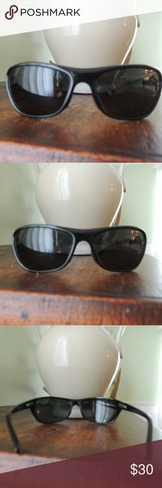 LL Bean black sunglasses LL Bean black sunglasses.  In good condition only a couple of minor scratches nothing bad.  I tried getting them to show on the pictures. LL Bean Accessories Sunglasses