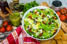 Refreshing and delicious Ex-Texan Salad by Joe Yonan! Don't miss Home & Family weekdays at on Hallmark Channel! Salad Recipes Healthy Lunch, Salad Recipes Video, Salad Recipes For Dinner, Salad Dressing Recipes, Veggie Recipes, Vegetarian Recipes, Cooking Recipes, Healthy Food, Jamie Oliver