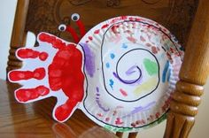 "Hermit Crab Craft to go along with ""A Home for Hermit Crab"" by Eric Carle"