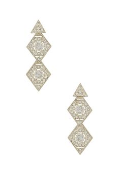 08ef0bcbfaa8 Shop for Luv AJ The Pave Kite Disc Earrings in Silver Ox at REVOLVE. Free  day shipping and returns
