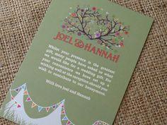 Gorgeous festival inspired wedding invitation