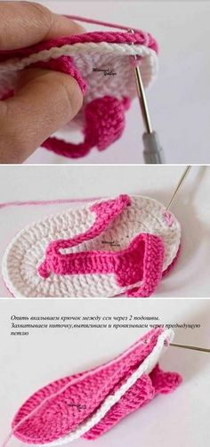 Tutorial en imágenes de sandalias para bebé tejidas con ganchillo con moldes y patrón, muy sencillas y bien detallado. Crochet Baby Boots, Crochet Baby Sandals, Crochet Baby Clothes, Crochet Girls, Crochet Art, Crochet Shoes, Crochet Slippers, Love Crochet, Double Crochet