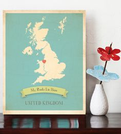 Customized My Roots Vintage Map Wall Art Choose Your State, Personalized Map Art, Wedding Gift, New Jersey Custom Map, Usa states map Map Wall Art, Map Art, Playroom Decor, Kids Decor, Playroom Ideas, Decor Ideas, Country Maps, Map Canvas, My Roots