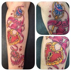 Lovely lock and key tattooed in the studio by Greg. #lockandkeytattoo #holytrinitytattoos
