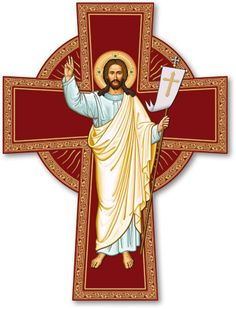 Icons magnets such as this Risen Christ Cross Magnet, can go just about anywhere with you! Shop icons of Christ magnets at Monastery Icons today. Christ Is Risen, Christ The King, The Cross Of Christ, Jesus Risen, Religious Images, Religious Icons, Religious Art, Croix Christ, Monastery Icons
