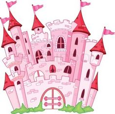 Vector of Pink princess castle