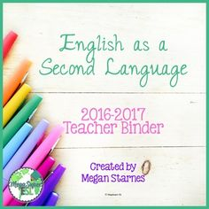 I love this bright Teacher Binder for a pop of color in my work day! It makes planning and recording information more fun! If youre like me this is perfect for you! This binder/planner is designed for a pull-out ESL teacher. As such, it does NOT have grade book pages, How we go home pages, or special classes schedules for example.{{PLEASE NOTE: This binder includes EDITABLE COVER PAGES only.