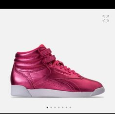 4d251fe2e19 Shop Women s Reebok Pink size 8 Athletic Shoes at a discounted price at  Poshmark. Hi Metallic pink Reebok classic.