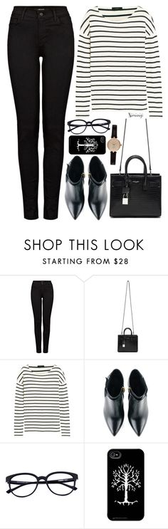 """""""Untitled #2900"""" by naomimjc ❤ liked on Polyvore featuring J Brand, Yves Saint Laurent, J.Crew, Kim Kwang and Barbour"""