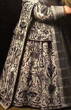 History of art: Portrait of the Van der Dussen family, detail, by Henrick Cornelisz van Vliet Historical Costume, Historical Clothing, Mode Renaissance, 17th Century Fashion, 18th Century, Blackwork Embroidery, Detail Art, Art Plastique, Magazine Art