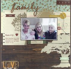 Four Generations - Scrapbook.com - Made with Simple Stories Legacy collection