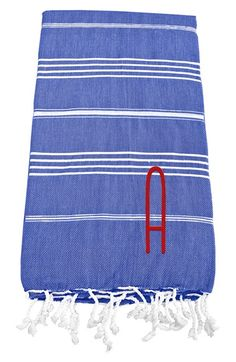 Cathy's Concepts Personalized Turkish Cotton Towel - Blue