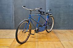 1946 USA Schwinn Tandem Bicycle   USA, c.1946. Vintage Schwinn Tandem Bicycle, Made in Chicago, USA. Coaster Brakes. 26 x 1.75 Tires. As-Found Condition, Fully Functional. Ready for Restoration or as Prop.  Stand Over H: 30 in. Front Seat H: 35½ in. Rear Seat H: 32 in.