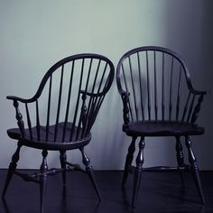 Bowen Black Wooden Chair - Maybe I should paint my Windsor chair black....