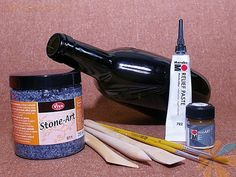 Мастер-класс по росписи бутылки витражными красками: Материалы