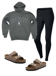 """Lazy days"" by morganmaccc on Polyvore featuring Birkenstock and NIKE"
