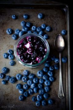 This Goat Cheese Mousse with Roasted Blueberries is a simple, light and elegant dessert. Only 4 ingredients!