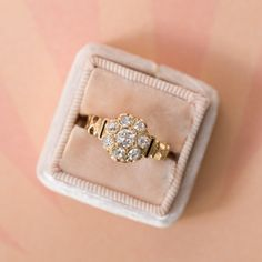 Classic Victorian Era Old Mine Cut Diamond Cluster Ring | Sunny Dunes from Trumpet & Horn