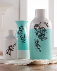 Let your creativity blossom by embellishing vases with pretty painted flowers. Click through to learn how!